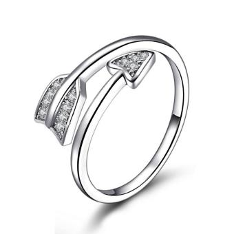 Women Arrow Ring Shiny Cubic Zirconia Finger Ring Solid 925 Sterling Silver Band Ring Adjustable Price Philippines