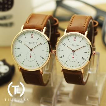 Timeless Manila Nomus Leather Couple Watch (Brown) Price Philippines