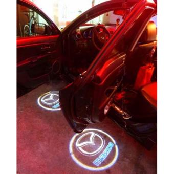 Harga 2pcs Wireless LED Door Welcome Light Logo Projector for Mazda Cars