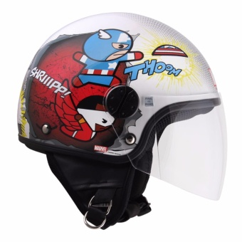 Harga Marvel Open-Face Helmet Kawaii Series Group 191 (White)