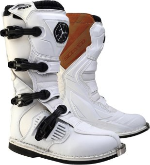 Scoyco® MBM-Series MBM-001 Motorcycle International Boots Motocross MX Racing (White) (Size 44) Price Philippines