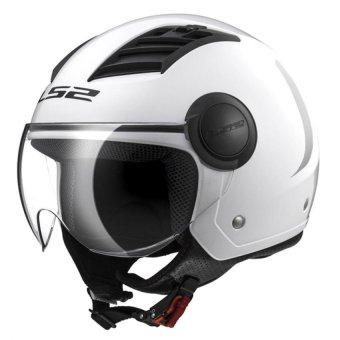 Harga LS2 Open Face OF562 Airflow Jet Helmet (White)