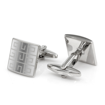 Kemstone Silver Plated Squares Cufflinks Mens Fashion Jewelry - intl Price Philippines