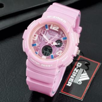 Harga D-ZINER Lady Gaga Sporty Watch for Ladies (PINK)