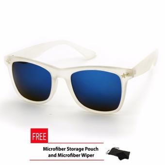 Harga Wayfarer Rising Star Classic Squire Star White Sunglasses Frame Blue Transparent Flash Lens