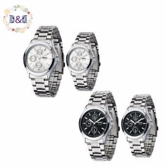 Harga NARY 6104 Couple's Digital Stainless Steel Strap Quartz Watch Set of 2