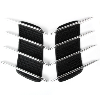 Chrome Silver Exterior Decorative Side Air Intake Vent Air Flow Grille for Benz - INTL Price Philippines