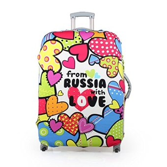 Harga Luggage Suitcase Protective Cover Russia Love 22-26 inch