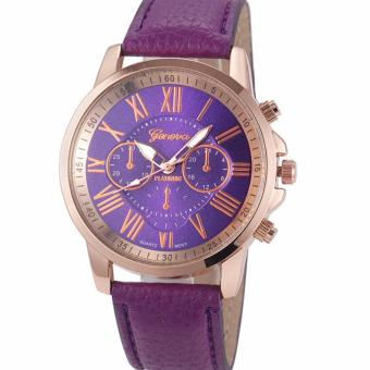 Geneva Women's Roman Purple Leather Strap Watch Price Philippines