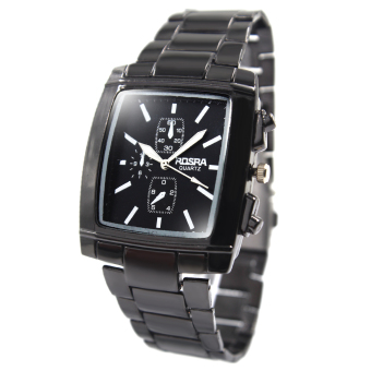 Harga Rosra Allen Unisex Black Stainless Steel Strap Watch ROSRA054