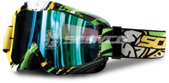 Scoyco® G-Series G06 Motorcycle Ultra Flexible Goggles Motocross MX Racing (Green) Price Philippines