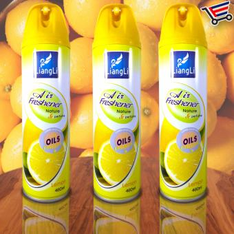 Harga LiangLi Spray Air Freshener Nature and Perfume 480mL (Lemon) Set of 3