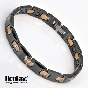 Hottime Healthy Tungsten Ladies Mens Bracelet, Bangle, Rose Gold Colour, Crystal 10065 - intl Price Philippines