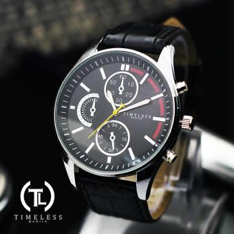 Timeless Manila Leo Chrono Leather Watch (Black) Price Philippines