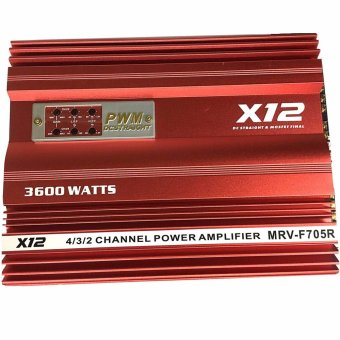 Harga X12 MRV-F705R Car Amplifier (Red)