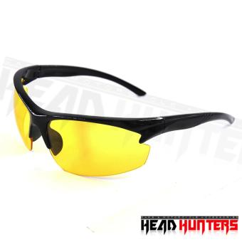 Harga Protech Fashionable Motorcycle Riders Unisex Sunglasses - Sun Protector Shades (Yellow)