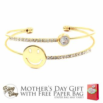 Bling Bling Alea Gold Bracelet Bangle with Free Paper Bag Price Philippines