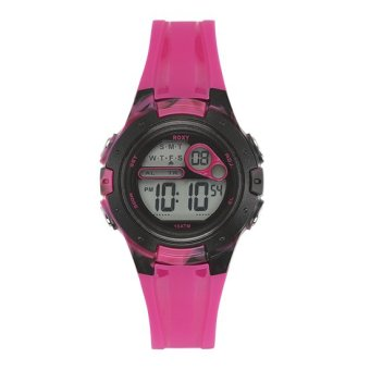 Harga Roxy The Tour Women Pink Silicone Strap Watch RX-1014PKBK