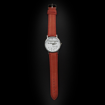 Geneva Women's Casual Watch Doesn't Matter Light brown Leather Strap GE008H Price Philippines