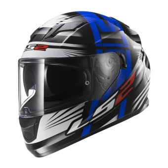 Harga LS2 Full-Face FF320 Bang Helmet (Black/White/Blue)