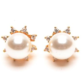 Harga Piedras Pearl with Cubic Zirconia Earrings Stud
