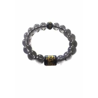 Harga Be Lucky Charms Feng Shui Smoked Quartz Protection Mantra Bracelet