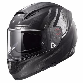 Harga LS2 Full Face FF397 Evo Razor Graphics2 Helmet (Matte Black)