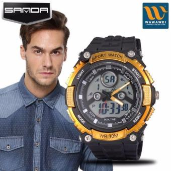 SANDA 709 Muiltifunctional Dual Display Waterproof Sports Electronic Watch Price Philippines