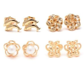 Harga Piedras Paug28 Earrings (Gold)
