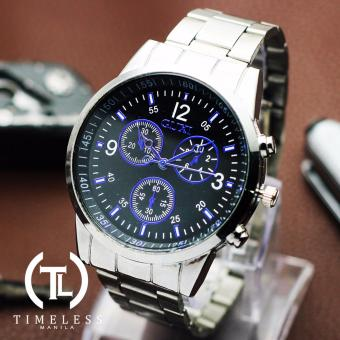 Timeless Manila Adrian Chrono Steel Watch (Black/blue) Price Philippines