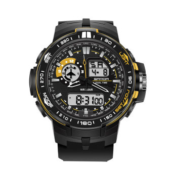 SANDA 737 Men's Fashion Outdoor Sports Waterproof Noctilucent Watch(gold) Price Philippines