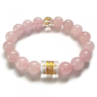 Harga Be Lucky Charms Rose Quartz with Protection Mantra Bracelet (Rose Quartz)