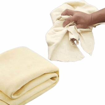 Harga Auto Care 75 x 45 cm Super Thick Natural Chamois Leather Car Cleaning Cloth Car Care Towel No Scratches - intl