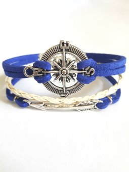 Fashub Traveler Compass and Arrow Blue Armcandy Bracelet Price Philippines