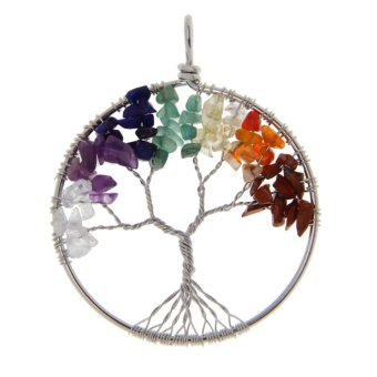 BolehDeals Handmade Tree of Life Pendant Mixed Gemstone Copper Wire Wrapped Jewelry Price Philippines