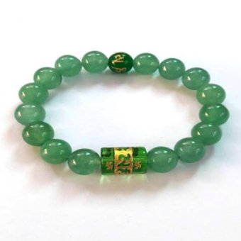 Harga Be Lucky Charms Feng Shui Jade with Protection Mantra Bracelet