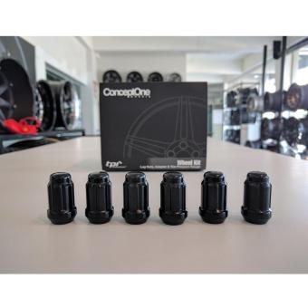 Concept One Wheel Kit 12x1.25, 6-Spline Lug Nuts (Black) Price Philippines