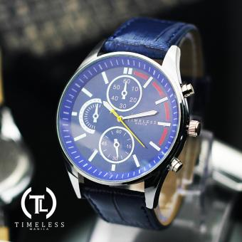 Timeless Manila Leo Chrono Leather Watch (Blue) Price Philippines