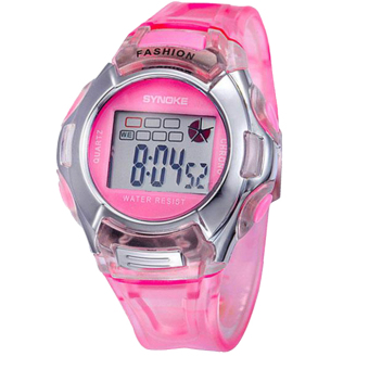 Harga GETEK Unisex Baby Boy Girl Sports Watch LED Digital PU Band Sport Quartz Wrist watches (Pink)