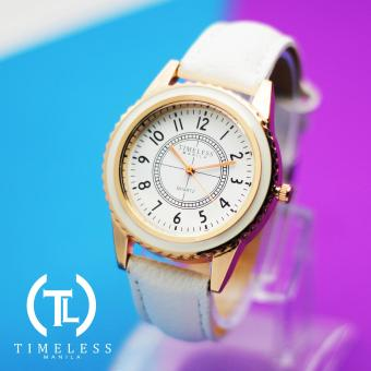 Timeless Manila Lucy Leather Watch (White) Price Philippines