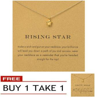 Harga RISING STAR pendant necklace gold dipped Buy 1 Take 1