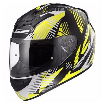 Harga LS2 Full Face FF352 Infinite Helmet (White Black Yellow)