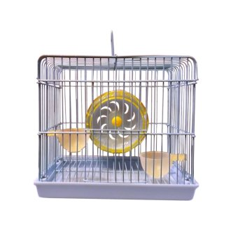 Harga Cute Square Hamster Cage Complete Set (Blue)