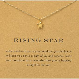 Harga RISING STAR pendant necklace gold dipped