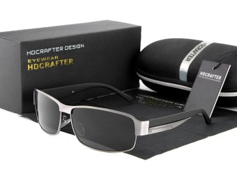 Harga HDCRAFTER Polarized sunglasses men s driving Eyewear with Box