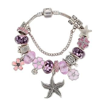 Harga Rising Star Europe and the United States trendy 925 Silver Pandora charm bracelet crystal bracelet B16054