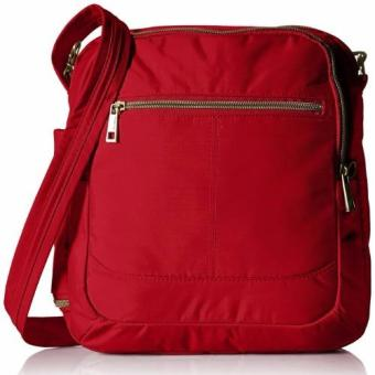 Harga Travelon Anti-Theft Signature North/South Shoulder Bag, Cayenne