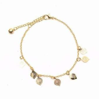 Harga piedras jewelry charmed anklet 18k Gold plated
