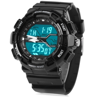 Sanda 726 Water Resistant Men LED Sports Watch (Black) Price Philippines