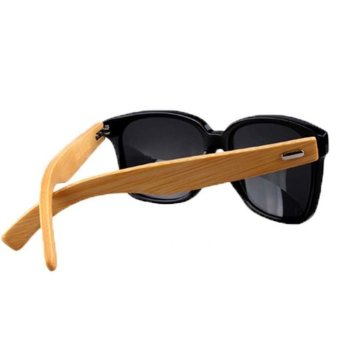 Bamboo Sunglasses Wooden Wood Mens Womens Retro Vintage Sunglasses Bamboo Leg Sunglasses Black (Intl) Price Philippines